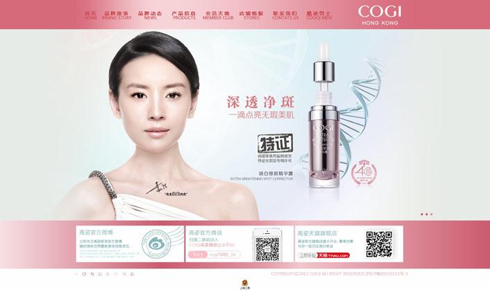 上海化妆品公司网站案例